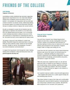 Specialty Lighting Owners Featured in Appalachian State University's Year in Review Magazine