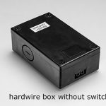 Black hardwire box for lighting without a switch.