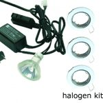 Halogen kit for a recessed mini incasso downlight.
